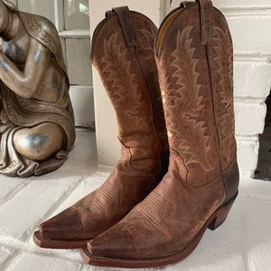 Tony Lama Women's 7.5 leather cowboy boots